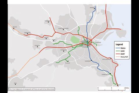 Dublin 20-year transport strategy published | News | Railway ... on dublin train stations map, dublin map.pdf, dublin tram system, dublin google map, seattle rapid transit system map, dublin metro, dublin zone map, dublin airport, ireland train route map, dublin transit map, dublin ca map, dublin transit system, dublin train system, connolly station dublin map, dublin europe map, grafton street dublin map, luas dublin map, dublin walking map,